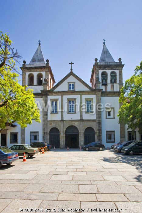 South America, Brazil, Rio de Janeiro state, Rio de Janeiro city, the Benedictine Mosteiro Sao Bento church in the old colonial centre of Rio