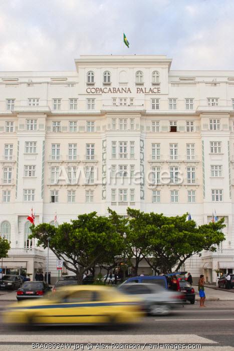 Copacabana Palace Hotel, Avenida Atlantica, Copacabana Beach, Copacabana Palace hotel