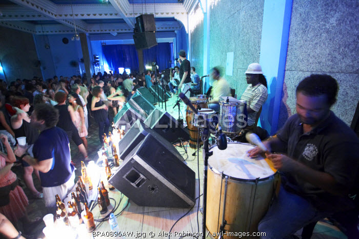 South America, Brazil, Rio de Janeiro, Live Gafieira band in the Clube dos Democraticos nightclub on Rua Lavradio in Lapa