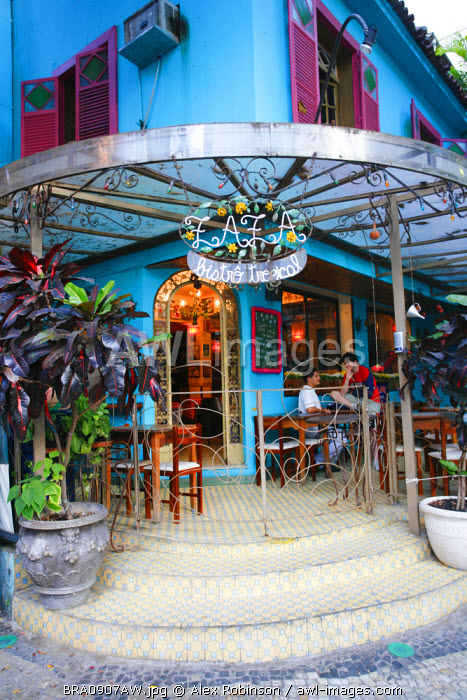 South America, Rio de Janeiro, Rio de Janeiro city, the Bistro Zaza restaurant in Ipanema