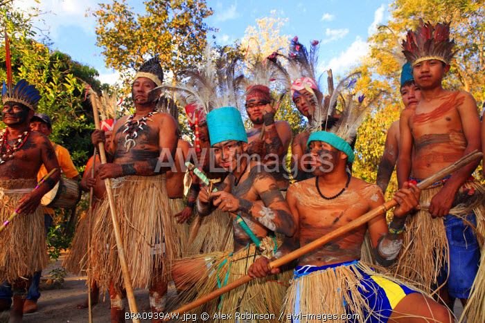 South America, Brazil, Miranda, Terena indigenous people from the Brazilian Pantanal