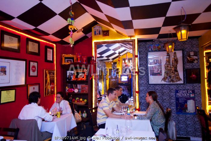 Brazil, Brasilia, Universal Diner Restaurant run by Mara Alcamim, PR