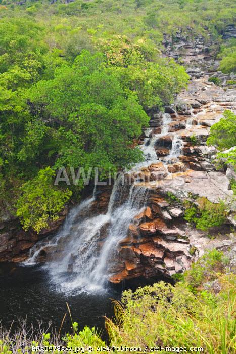 South America, Brazil, Bahia, Chapada Diamantina, Parque Nacional da Chapada Diamantina, Mucugezinho River and the Diabo Falls