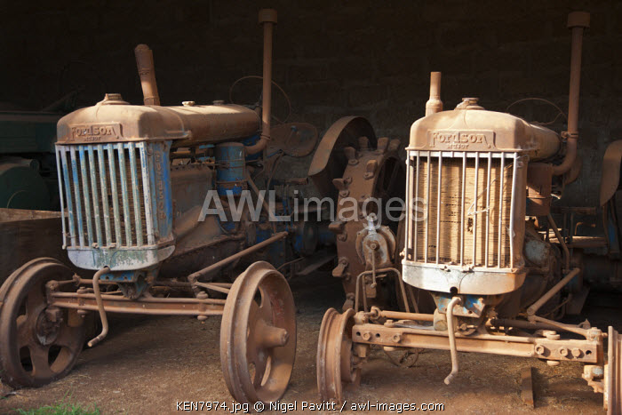 Dilapidated Fordson tractors made soon after the end of World War II lying at a farm near Moiben.