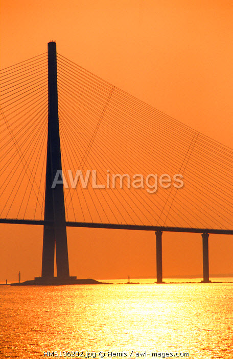 France, Seine Maritime, Normandy Bridge