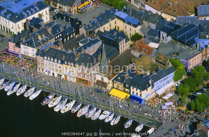 France, Calvados, Honfleur (aerial view)