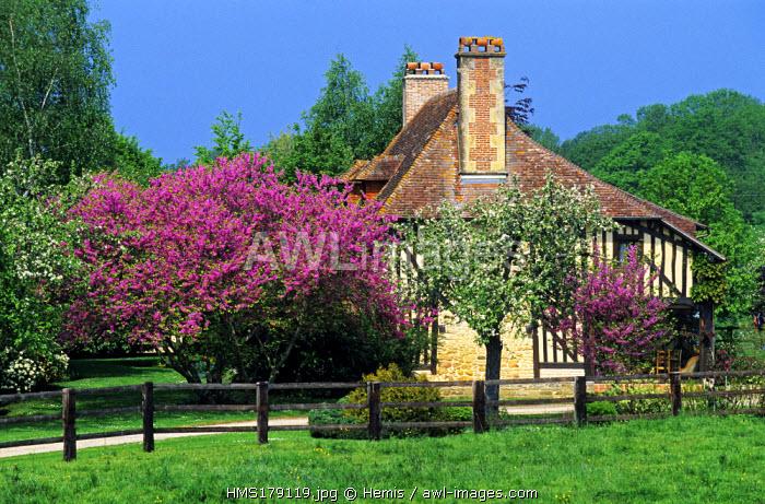 France, Calvados, Pays d' Auge, Vieux Pont en Auge, Typical House in Spring