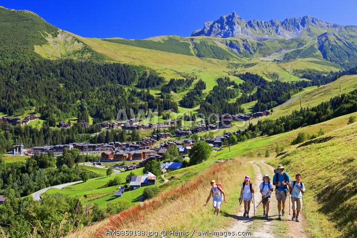 France, Savoie, Valmorel, Pointe du Grand Nielard (2544m) from Fontaine, Massif de la Vanoise