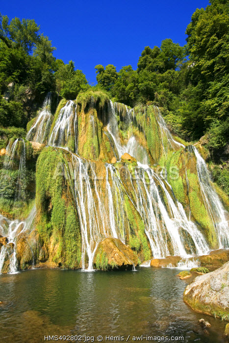 France, Ain, Bregnier Cordon, Glandieu waterfall