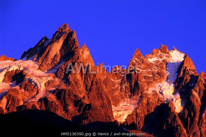 France, Haute Savoie, Mont Blanc country, Aiguilles de Chamonix