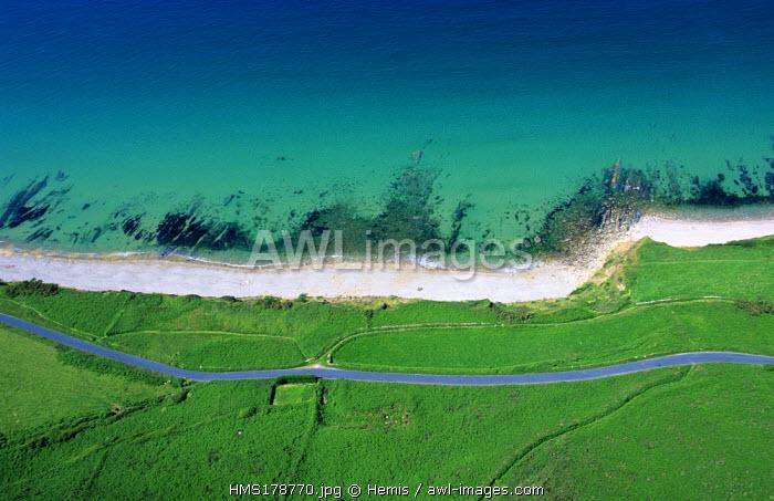 France, Manche, Contentin Western Coast, Cap de la Hague, between Goury and Baie d' Ecalgrain (Aerial View)