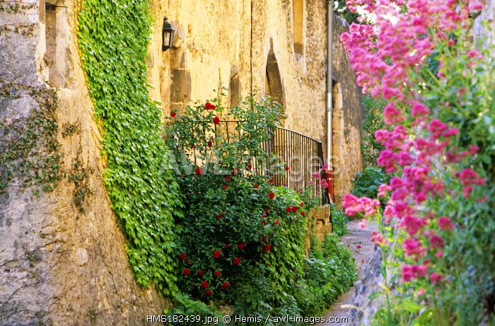 France, Drome, Drome Provencale, Le Poet Laval village, labelled Les Plus Beaux Villages de France (The Most Beautiful Villages of France)