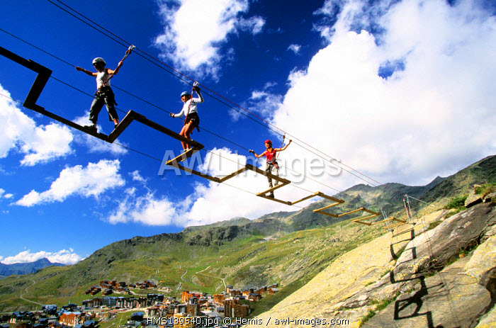 France, Savoie, Val Thorens, via ferrata