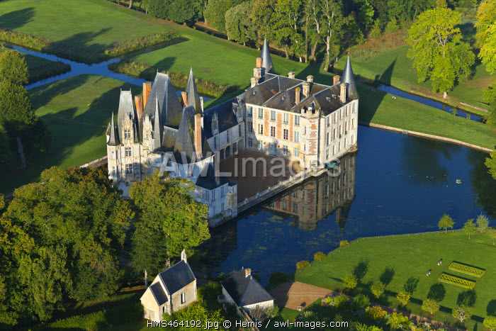 France, Orne, Mortree, Chateau d'O(aerial view)