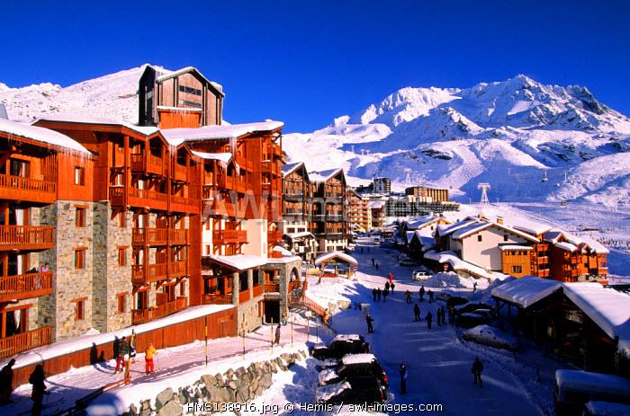 France, Savoie, Val Thorens, Trois Vallees ski resort, Peclet Peak