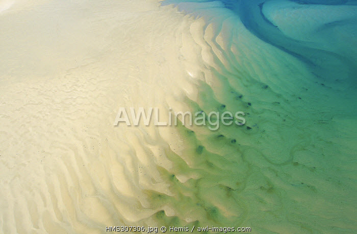 France, Manche, Cotentin, Portbail (aerial view)
