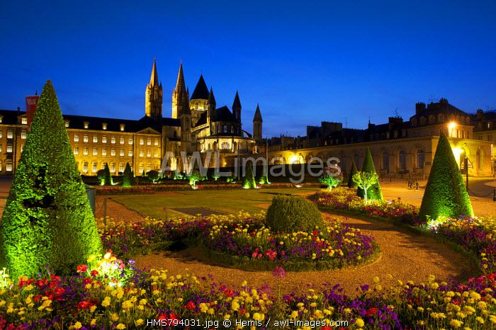 France, Calvados, Caen, Abbaye aux Hommes (Men' Abbey), Romanesque architectur