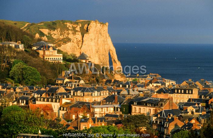 France, Seine Maritime, Pays de Caux, Cote d'Albatre, Etretat town