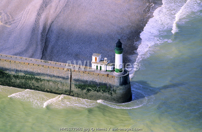 France, Seine Maritime, Le Treport (Aerial View)