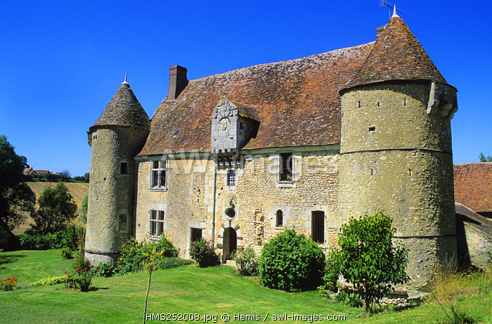 France, Orne, le Perche, Manoriere Mansion dated 15th century Manoriere