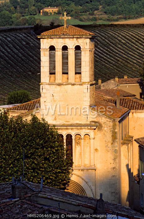 France, Drome, Drome Provencale, Bourdeaux, Viale Church