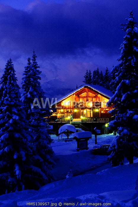 France, Savoie, Meribel, Le Blanchot restaurant
