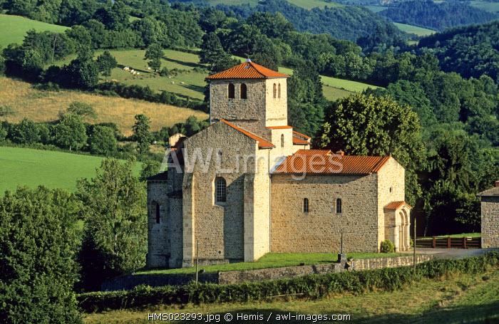 France, Rhone, Beaujolais region, Saint Mamert roman church