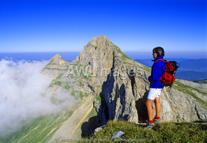 France, Isere, hike to the Grande Moucherolle in the Vercors natural regional park