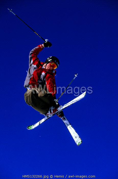 France, Savoie, Trois Vallees ski area, Meribel, skiing