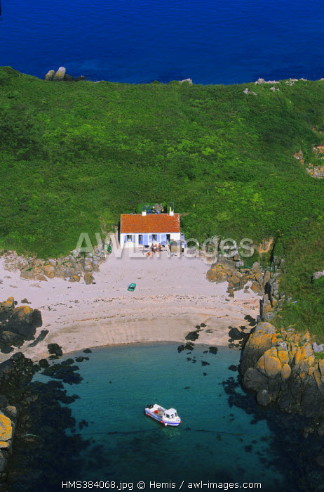 France, Manche, Chausey archipelago (aerial view)