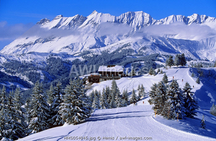 France, Haute Savoie, Contamines Montjoie ski resort