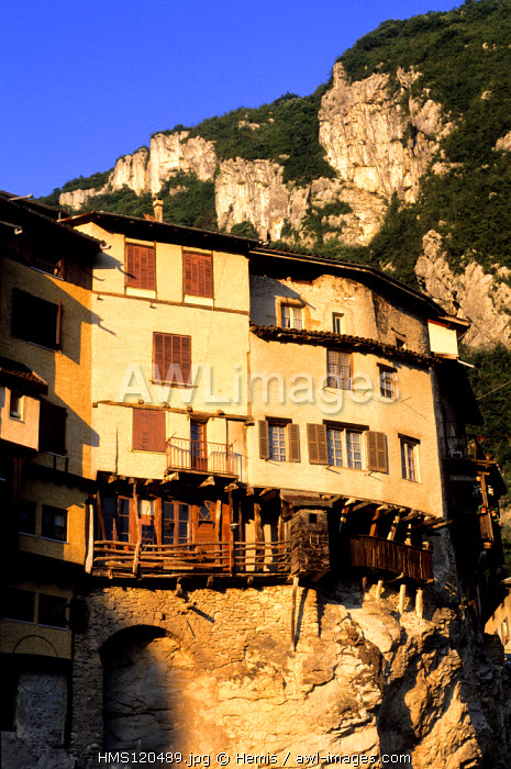 France, Isere, village of Pont en Royans at the border of the Vercors natural regional park