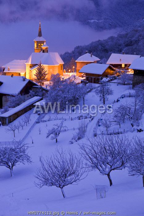 France, Savoie, Aigueblanche, the hamlet of Villargerel, Tarentaise valley