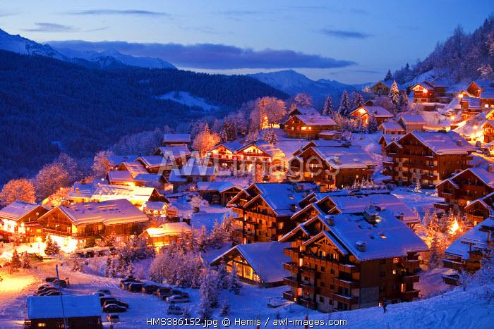 France, Savoie, Meribel, Meribel Village, Massif de la Vanoise, Vallee de la Tarentaise, Three Valleys ski resort