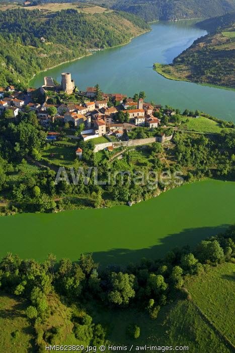 France, Loire, St Jean St Maurice sur Loire (aerial view)