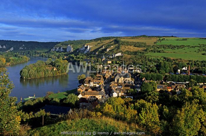 France, Eure, Seine river and Les Andelys village