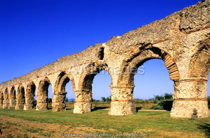 France, Rhone, Chaponost, Roman Aqueducts