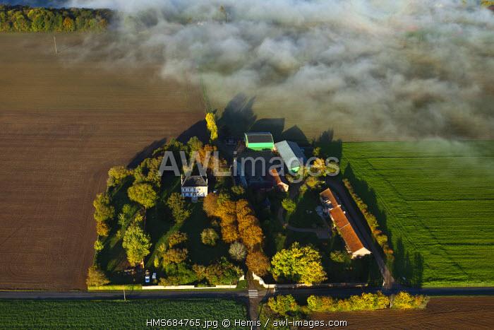 France, Eure, Les Andelys, La Haye Gaillard farm (aerial view)