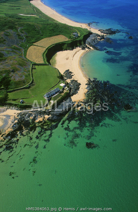France, Manche, near Siouville (aerial view)
