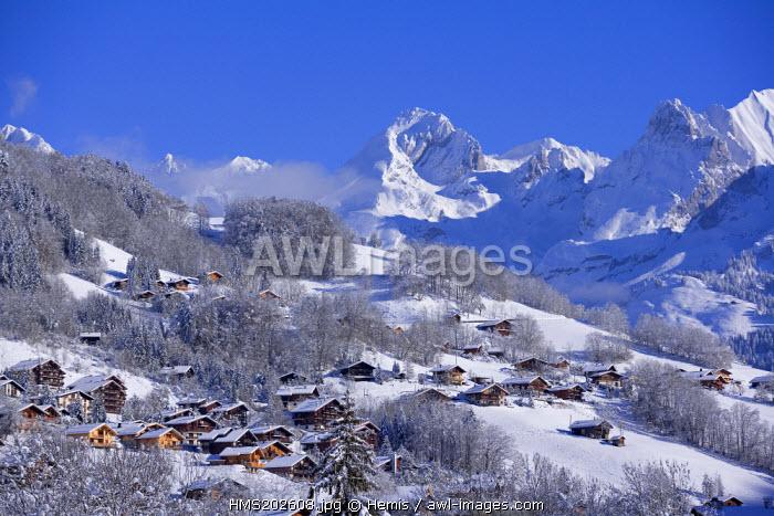 France, Haute Savoie, Le Grand Bornand, the Aravis mountain range