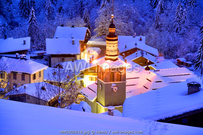 France, Savoie, La Giettaz, church bell