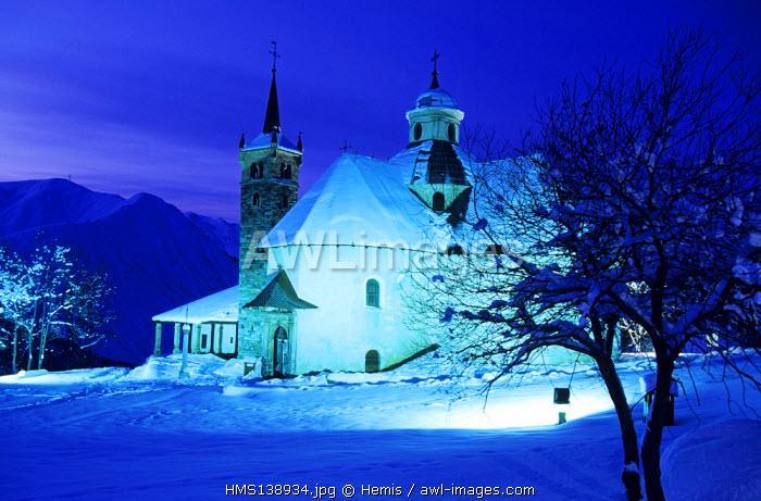 France, Savoie, Saint Martin de Belleville, Notre Dame de la Vie Church