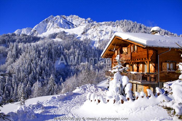 France, Savoie, La Giettaz, the Aravis mountain range, La Blonniere 2369m