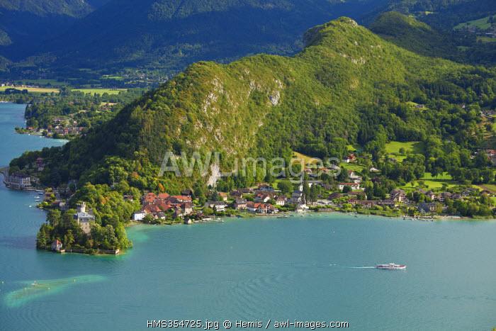 France, Haute Savoie, Duingt, Annecy lake