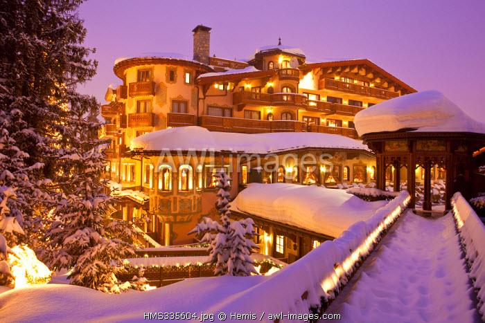 France, Savoie, Courchevel 1850, Les Airelles four star hotel and restaurant