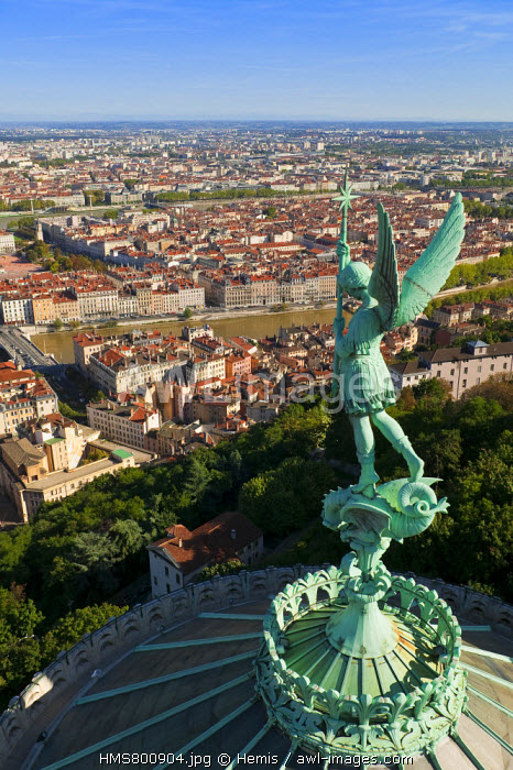 France, Rhone, Lyon, historical site listed as World Heritage by UNESCO, the view from Notre-Dame-de-Fourviere