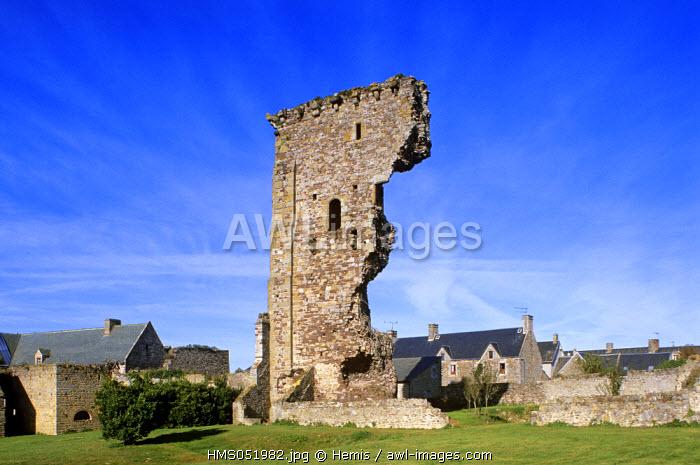 France, Manche, Regnieville sur Mer, castle's remains