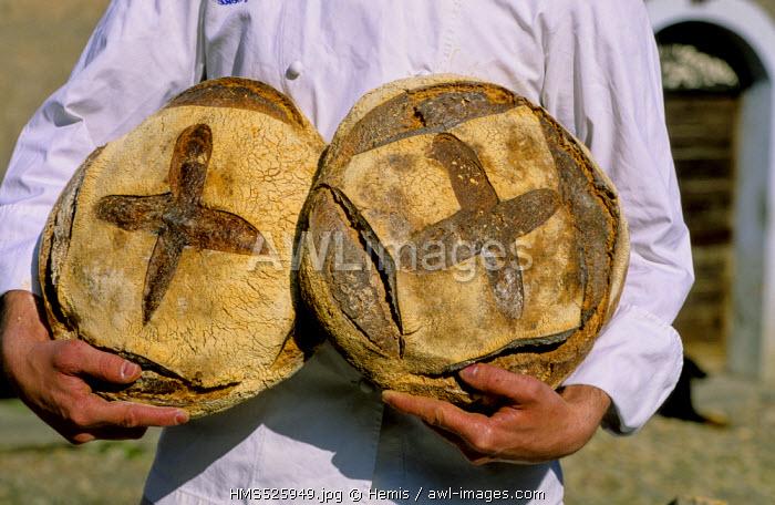 France, Haute Savoie, Megeve, rye bread produced by renowned baker Samuel Goldenwurtz