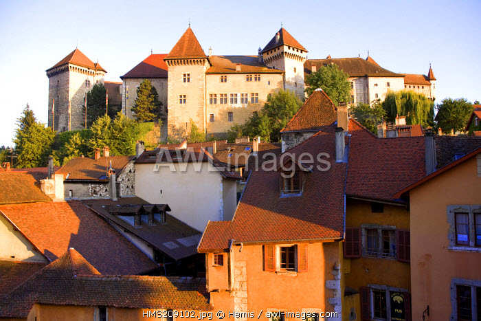 France, Haute Savoie, Annecy, the old town and the Castle-Museum