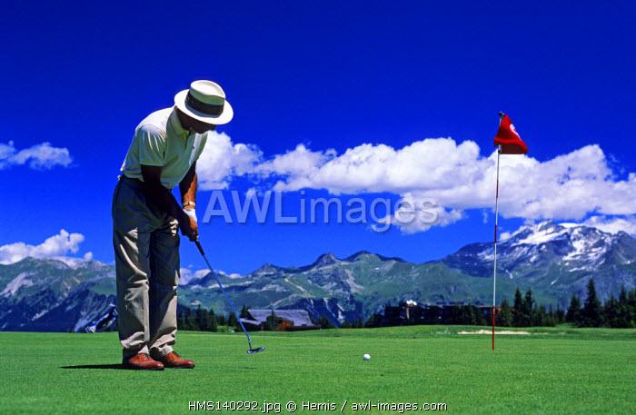 France, Savoie, Courchevel Golf Course